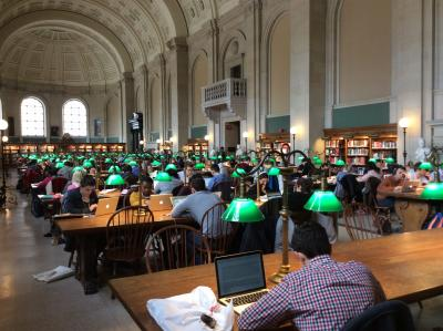 Reading room in the Widener Library